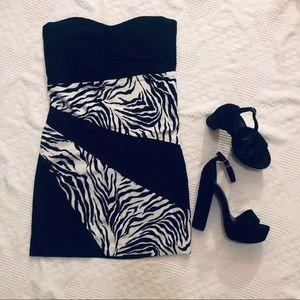 Zebra Print Cocktail Dress